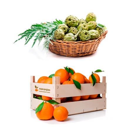 Naranjas de Mesa (10 kg) y Alcachofas (6 kg)