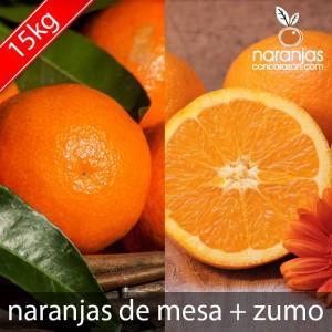 Caja de 15 Kg Naranja de Mesa y Naranja de Zumo
