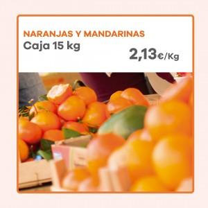 Caja de Naranjas de mesa y Mandarinas (15 kg)